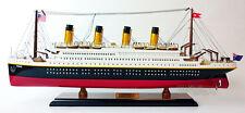 """Handmade RMS Titanic 24"""" Ocean Liner Wooden Model Ship"""