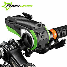 ROCKBROS Multifunction Bicycle Audio Player Bike Headlight Cycling Phone Holder