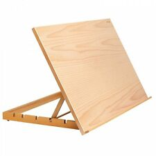 A2 Wooden Table Easel Art and Craft Work Station Large Drawing Board Reeves