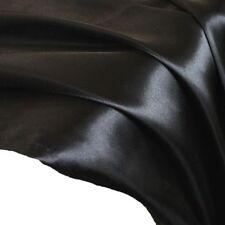 schwarz GLANZ SATIN Stoffe Gardinenstoff Vorhangstoff Kleiderstoff Dekostoff NEU