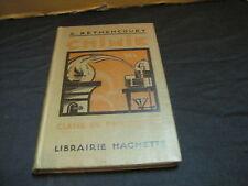 A. BETHENCOURT: Chimie /classe de philosophie 1933