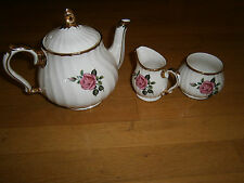 SADLER Vtg Flowers 3-Piece Teapot Set Made In England Vintage China Immaculate!!