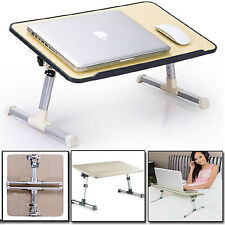 LARGE  ADJUSTABLE PORTABLE LAPTOP DESK  FOLDING BED SOFA COMPUTER TABLE STAND