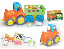 Baby Push Along First Farm Tractor with Animals Play set - 18 months plus - NEW