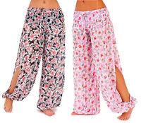 Semi Sheer Split Side Chiffon Harem Pants Size 8 - 10 Festival Beach Trousers
