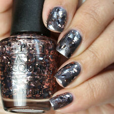 OPI NAIL POLISH Lacquer in TWO WRONGS DON'T MAKE A METEORITE ~ Glitter Starlight