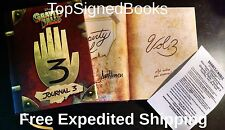 SIGNED Journal 3 Gravity Falls book Dipper Pines Notebook Diary Bill Cipher
