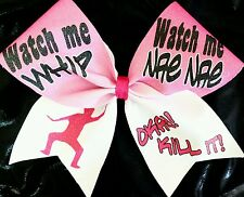Cheer Bow - Watch Me Whip Watch Me Nae Nae - Hair Bows