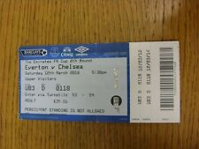 12/03/2016 Ticket: Everton v Chelsea [FA Cup] (Creased, Folded). Thanks for view