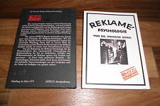 Dr. Theodor König -- REKLAME-PSYCHOLOGIE // Reprint der Ausgabe von 1924 / 1979