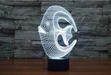 Imported Creative 3D 7 Color Changing laser Night Lamp Visual Illusion LED Décor