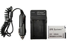 Battery and Charger For Canon PowerShot A4000 IS ELPH 110 HS ELPH 115 HS Camera