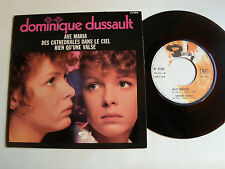 "DOMINIQUE DUSSAULT : Ave Maria + 2 titres - 7"" EP 45T 1969 French BARCLAY 71 399"
