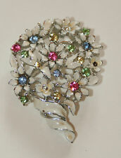 LISNER Flower Brooch Vintage Jewelry Designer Signed