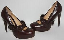 NEW Womens $380 LAMB Finsbury Brown Leather Pumps Heels Size 7 M
