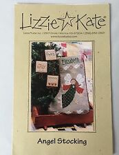 Lizzie Kate Angel Stocking Pattern Counted Cross Stitch Christmas Chart