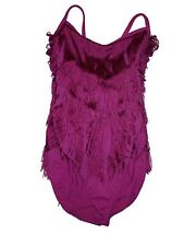 Girl Hot Pink Fuchsia Flapper Fringe Weismann Dance Leotard Costume MC