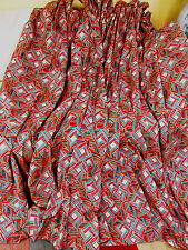 "Striking vintage curtains Collier Campbell style! 130wide x 76"" drop lined"