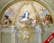 THE IMMACULATE CONCEPTION PAINTING CATHOLIC CHURCH ART REAL CANVAS PRINT