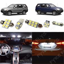 6x White LED lights interior package kit for 2002-2006 Honda CR-V HV2W