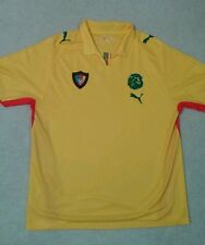 PUMA Cameroon National 07/08 Away Yellow,Green,and Red Jersey,2XL,Made in Africa
