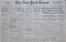 6-1938 June 13 REBELS CONVERGE CASTELLON GOAL AIR RAIDS ORDERED. SPAIN CIVIL WAR