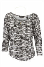 MAISON SCOTCH BLACK WHITE COTTON ZEBRA TOP T SHIRT SZ 1 FITS 10/12 £49