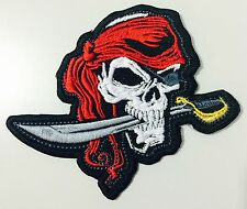PIRATE SKULL BIKER MC PATCH