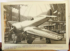 AVION HANRIOT L H 130 Photo originale G. DEVRED (Agence ROL) 1932