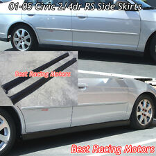 RS Style Side Skirts (PP) Fits 01-05 Honda Civic 2/4dr