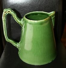 Style Eyes By Baum Bros. Green Ceramic Watering Can - Pitcher With Bow Handle