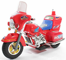 NEW KIDS RIDE ON CAR POLICE Style ELECTRIC MOTORBIKE 6V BATTERY BIKE in RED