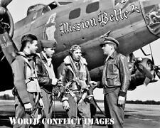 USAAF WW2 B-17 Bomber Mission Belle #2 8X10 Nose Art Photo 385th BG WWII