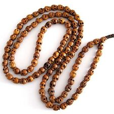 Skull Jujube Wood Tibet Buddhist Prayer Beads Mala Necklace--108Beads--10mm*8mm