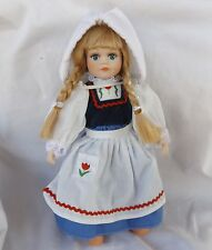 "Porcelain Doll Royalton Collection Dutch Girl Red Tulip Trim Holland 10"" 1998"