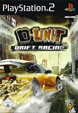 D-UNIT DRIFT RACING for Playstation 2 PS2 - with box & manual - PAL
