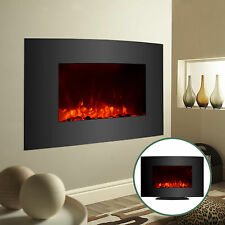 Adjustable Large 1500W Electric Fireplace Heater Wall Mount & Standing w/ Remote