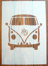 VW Camper Van Front Stencil Mask Reusable Mylar Sheet for Arts & Crafts