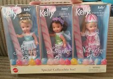 Kelly Jenny Flower Snow Fairy Fairytale Barbie 3 Doll Set NRFB Nutcracker Rare