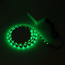 3Ft 5V USB LED Strip Light Green bias lighting WaterProof For Car TV Power