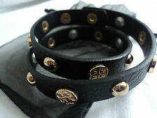 Ladies Girls Black Statement Buckle Wrap Around Punk Rock Chic Bracelet Cuff New