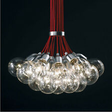 19 Lights - Red Idle Max Sea Urchins Glass Ceiling Light Pendant Lamp Chandelier