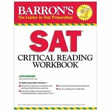 NEW - Barron's SAT Critical Reading Workbook, 14th Edition