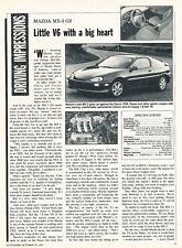 1992 Mazda Mx-3 Mx3 GS -  Classic Car Original Article J30