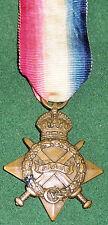WW1 1914-15 Star medal, Canterbury Regiment N.Z.E.F KIA Gallipoli 7-8-1915