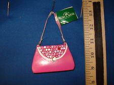 Purse Ornament Pink Sequined A1096  34