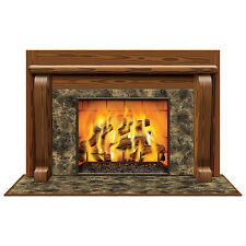 Fireplace Scene Decoration - 157 cm - Christmas & Winter Scene Setter Decoration