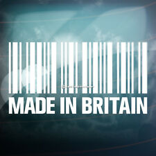 MADE IN BRITAIN BARCODE Funny Car,Window,Bumper DUB VAG EURO Vinyl Decal Sticker