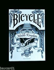 Bicycle MIDDLE KINGDOM ~ WHITE Playing Cards - USPCC