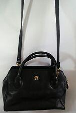 Etienne Aigner Leather Satchel Handbag 3 Straps 3 Compartments